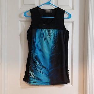 Nanette Lepore Workout Tank Blue and Black